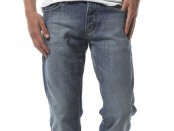 Washed Light Blue Slim Jeans