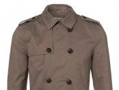 Khaki Crop Cotton Twill Trench
