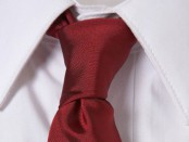 Berry Red Slim Tie