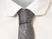 Burnished Silver Slim Tie