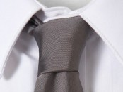 Charcoal Grey Slim Tie